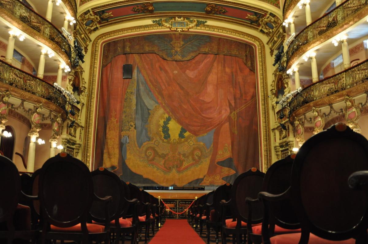 El teatro del Teatro Amazonas en Manaus