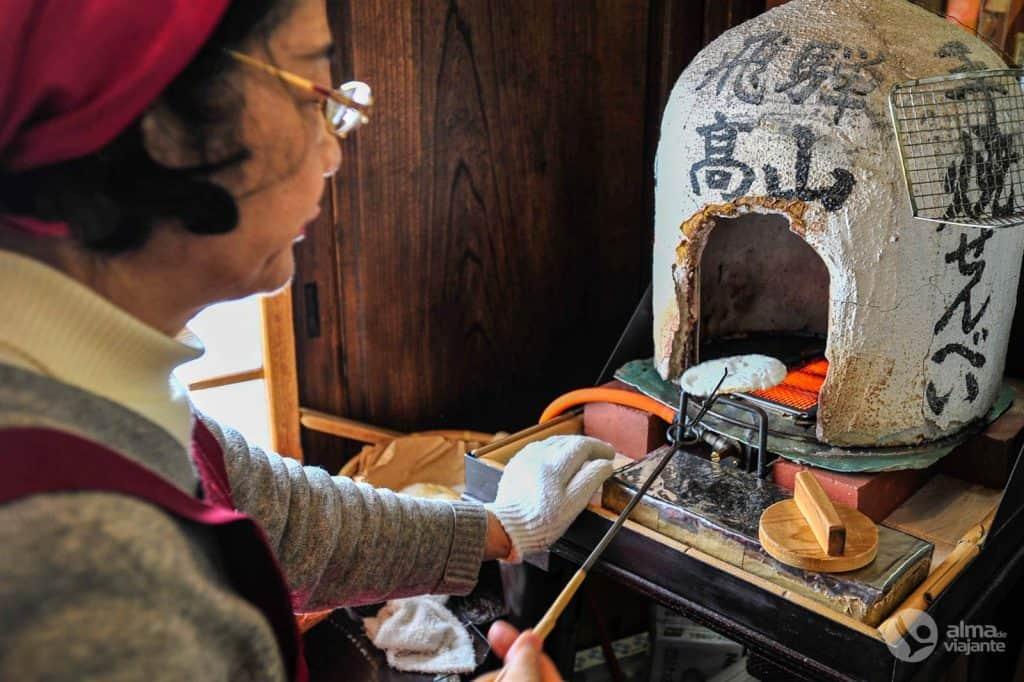 Gastronomía de Takayama: Galleta de arroz