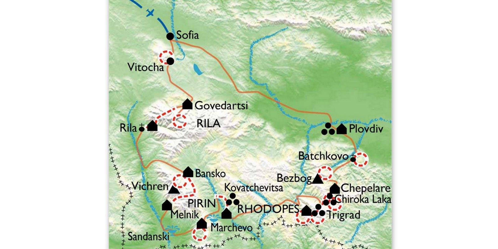 bulgaria-senderismo-mapa