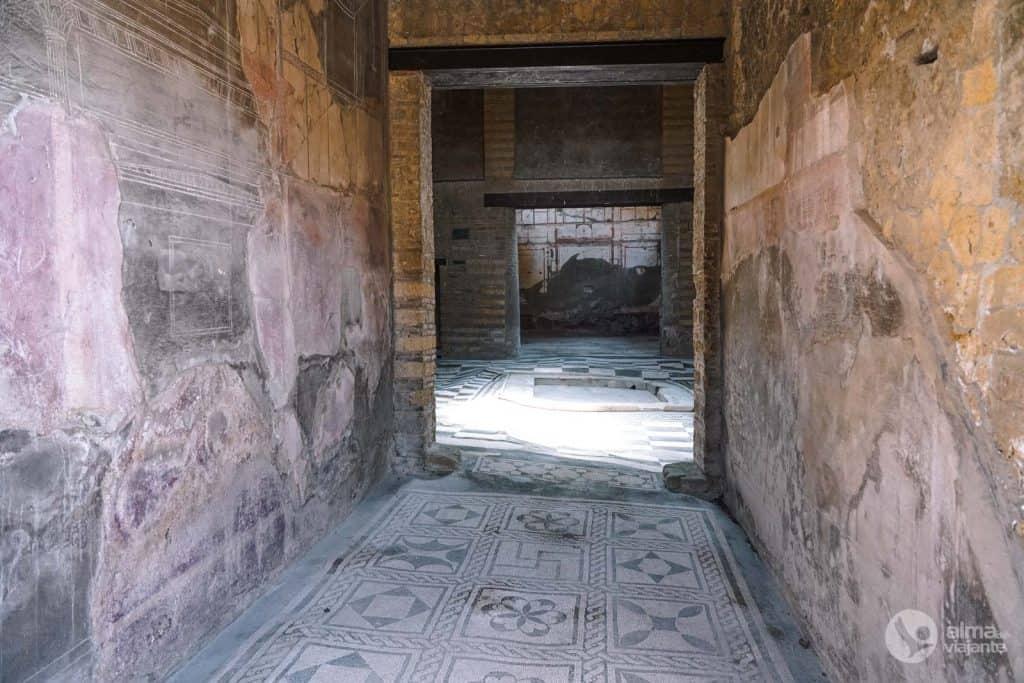 Casa Atrio - Mosaico, Parque Arqueológico herculano