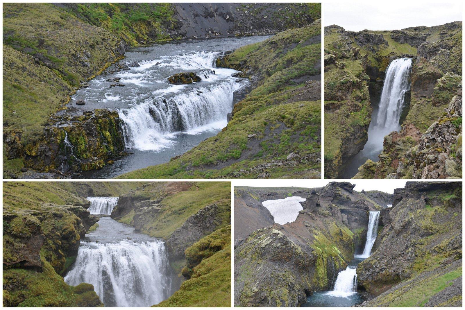 Las cascadas que se pueden descubrir en la ruta de senderismo después de Skogafoss