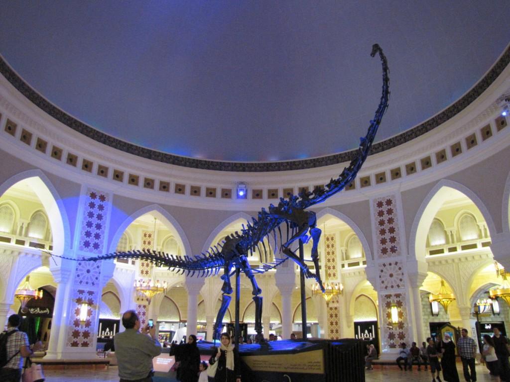 dubai mall-dinosaurio