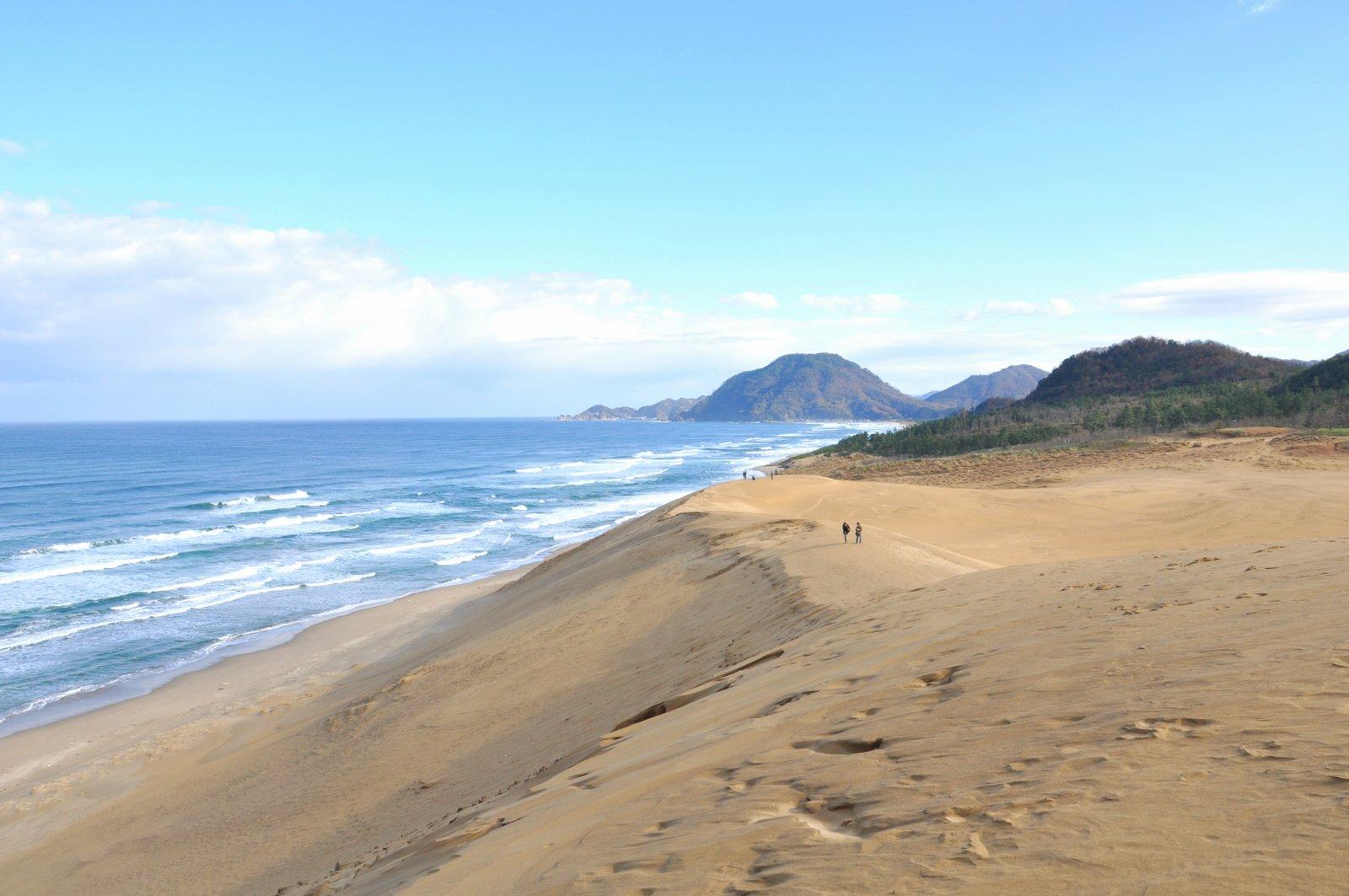 Dunas de arena Tottori a orillas del mar de Japón