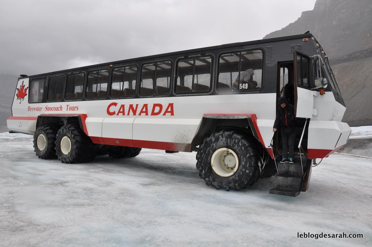 El Explorador de hielo Brewster que puede montar en el glaciar