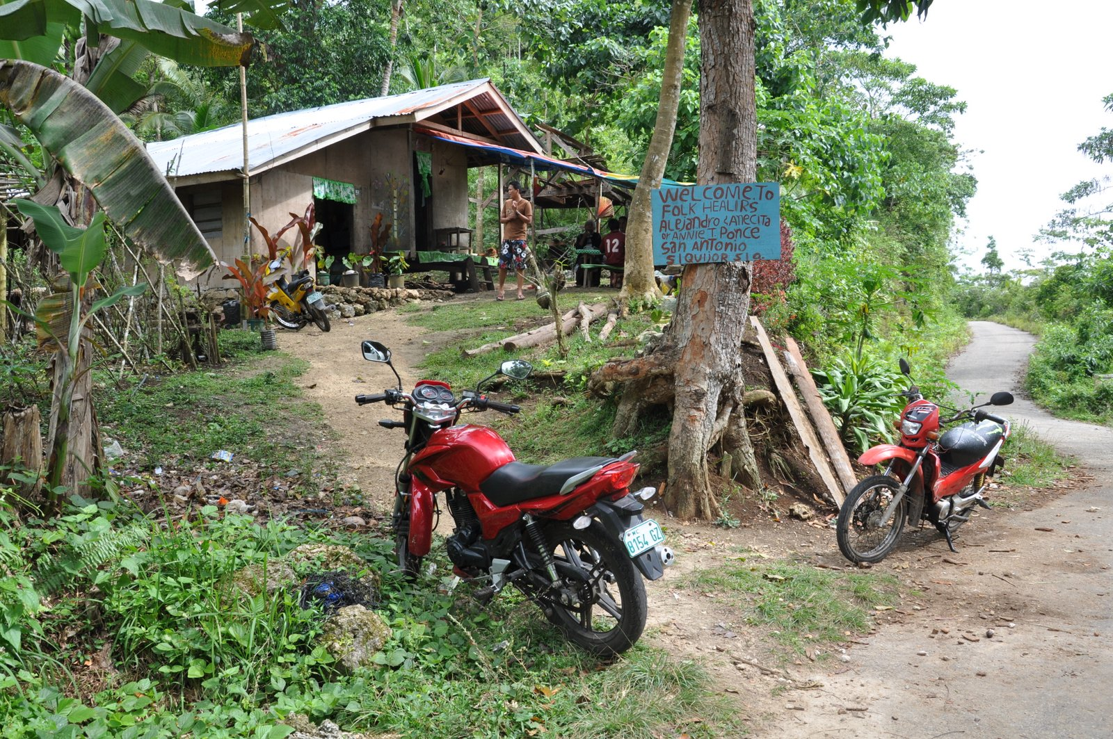 Casa de un curandero en la isla de Siquijor en Filipinas