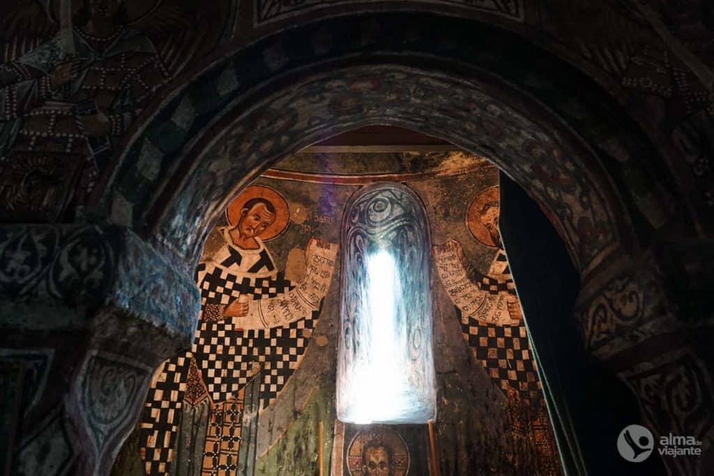 Frescos en la Catedral de la Transfiguración, Mestia