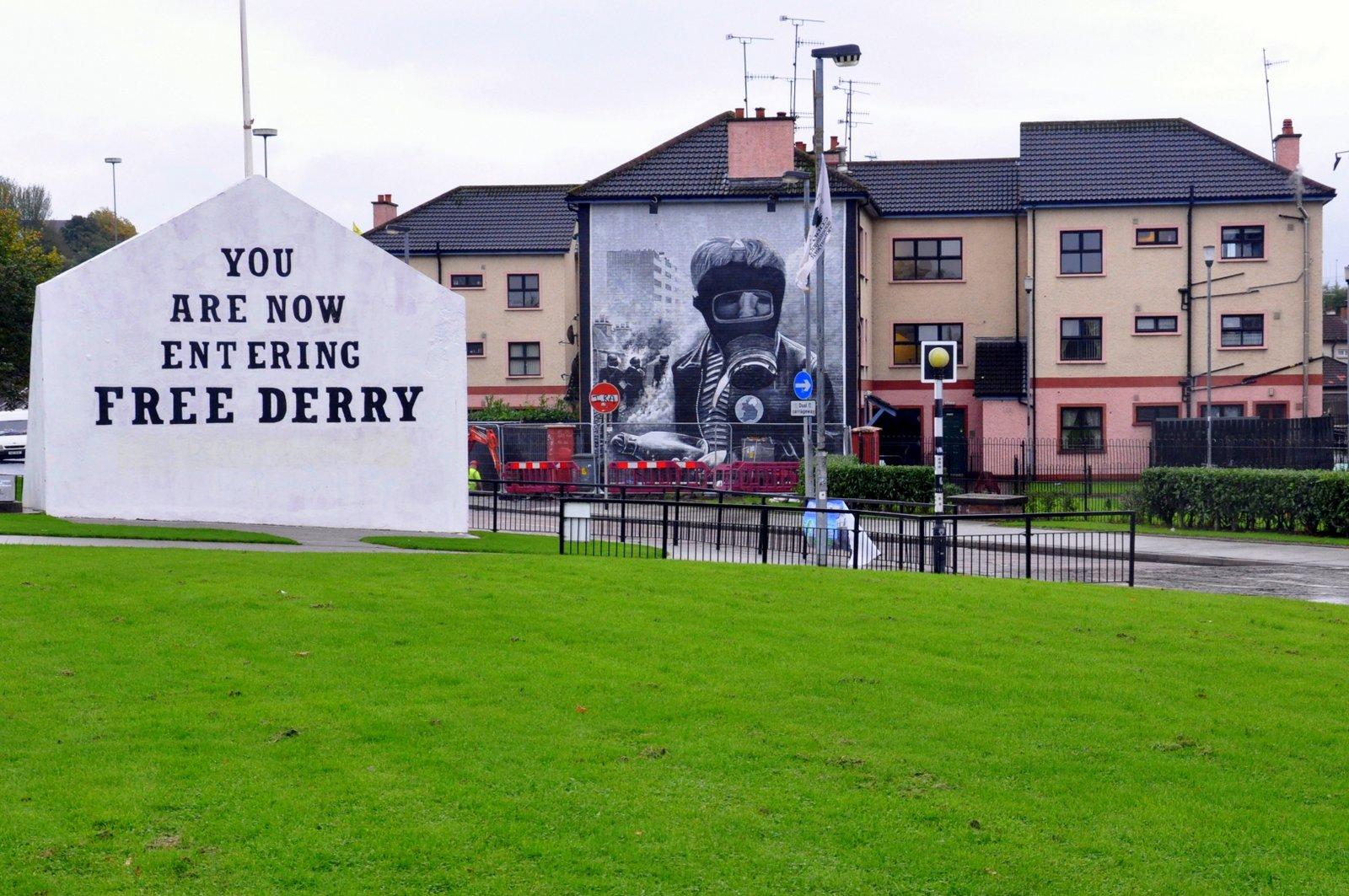 La esquina libre de Derry en Derry