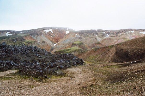 El sitio web Landmannalaugar en Islandia