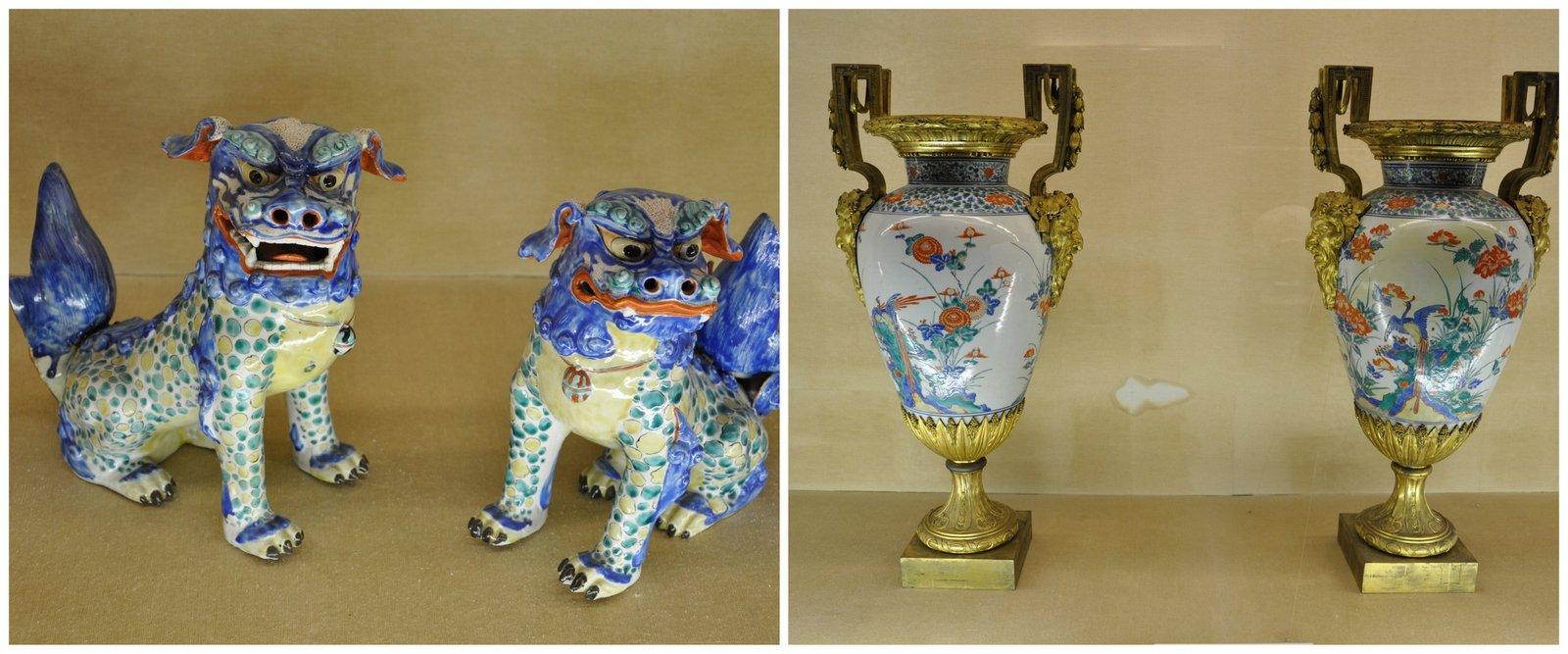 Cerámica en exhibición en el Museo de Cerámica de Kyushu