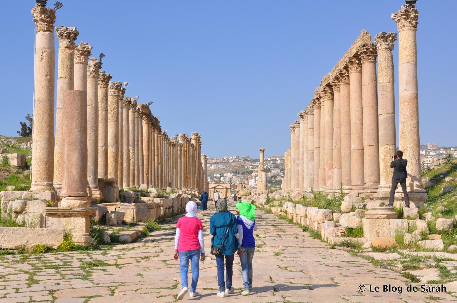 jerash jordan columnas