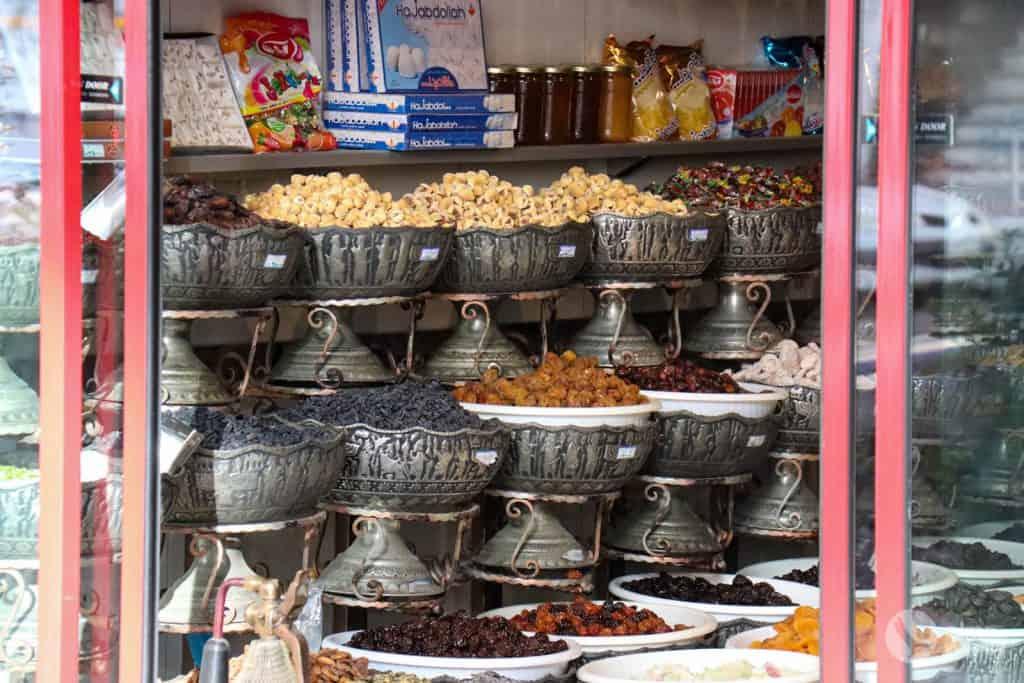 Frutos secos en Irán