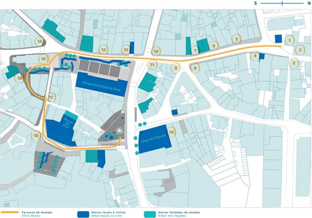 Mapa de Rua do Azulejo, Ovar