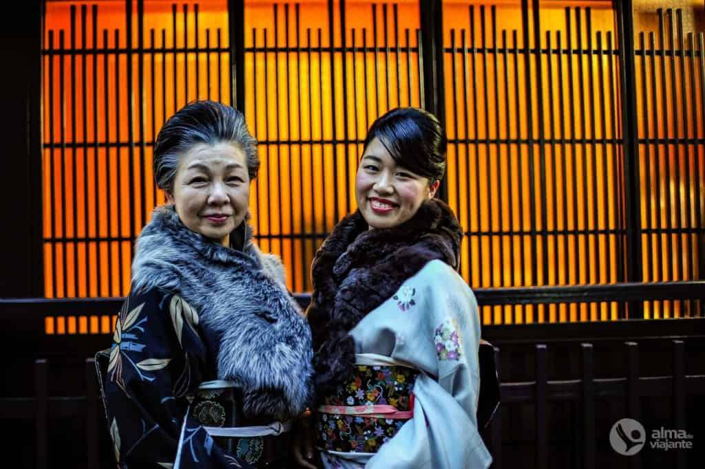 Mujeres japonesas en Kioto