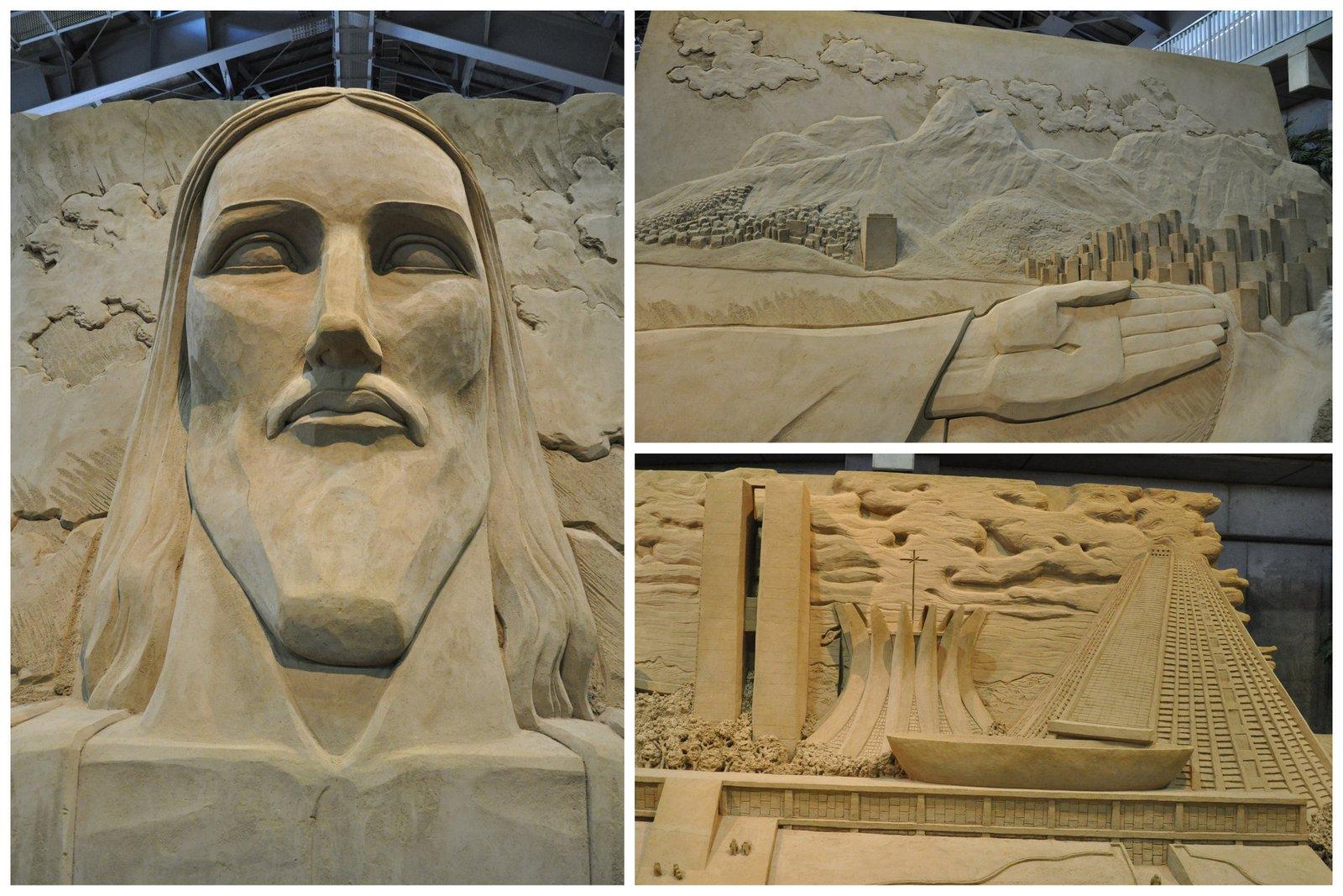 Cristo Redentor y las playas de Río de Janeiro y la Catedral de Brasilia