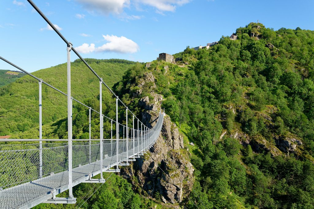 La pasarela himalaya de Mazamet en el Tarn