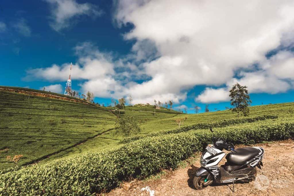 Viajar en scooter en Sri Lanka