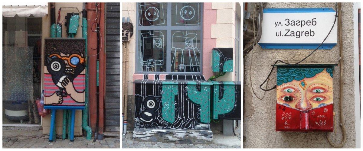 plovdiv-calle-arte-cajas-eléctrico