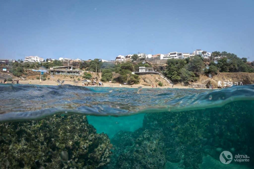 Playa kebra Kanela, Isla de Santiago
