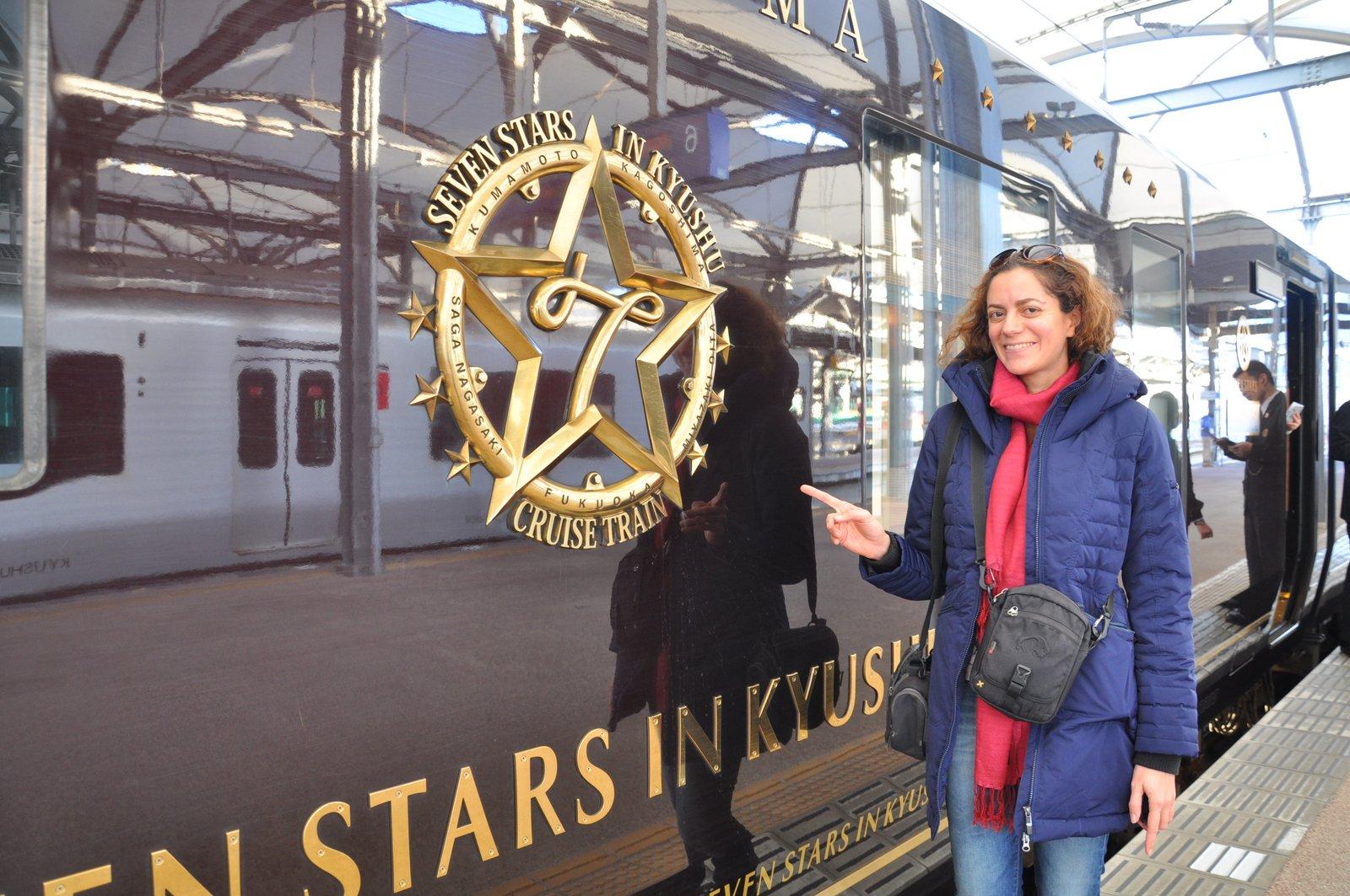 Viaja a bordo del tren Seven Stars en Japón