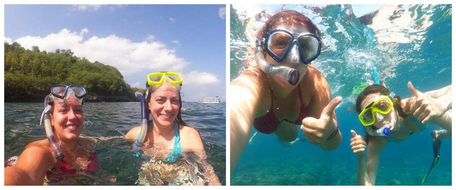 Snorkeling en Nusa Lembongan. Crédito de la foto: Lucie Aidart, Voyages et Vagabondages