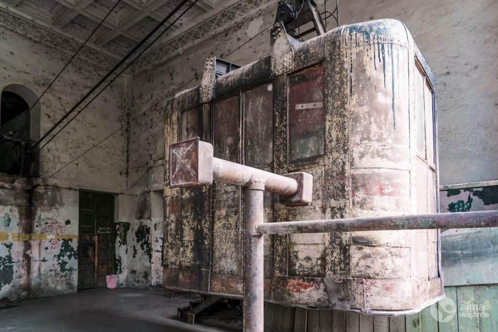 Cabina del teleférico de Chiatura