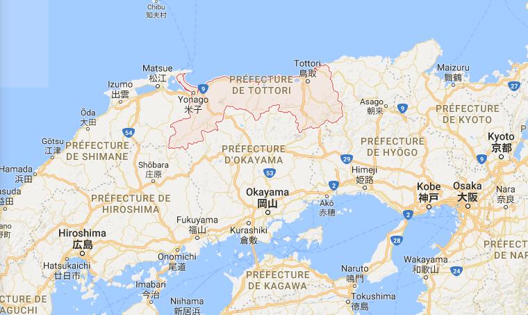 tottori-japón-mapa