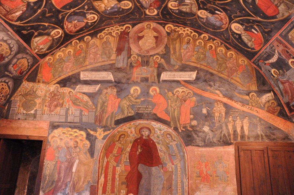 Frescos del refectorio del Monasterio de Batchkovo