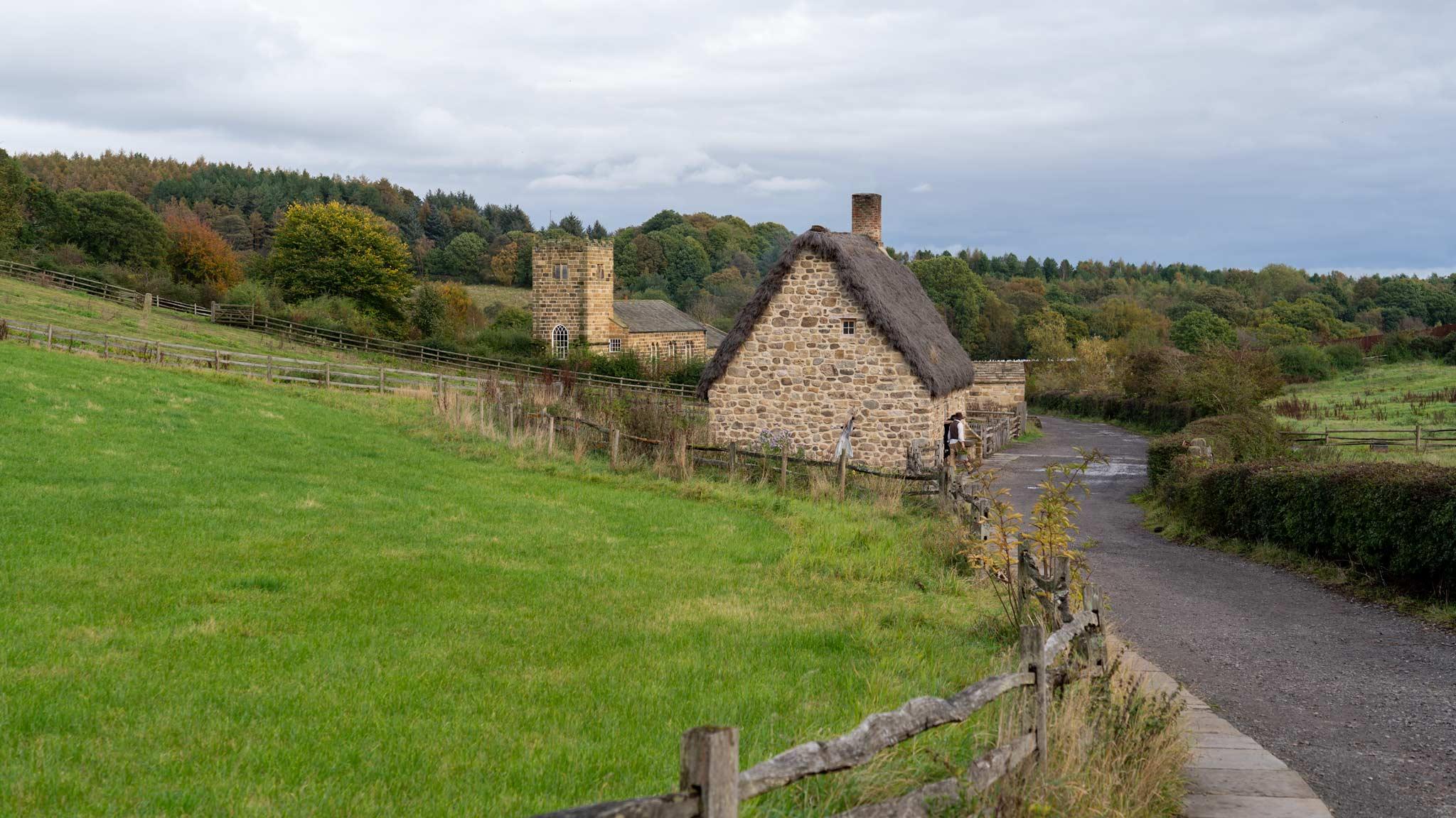 Una casa en Beamish donde los 'actores' cuidan el jardín