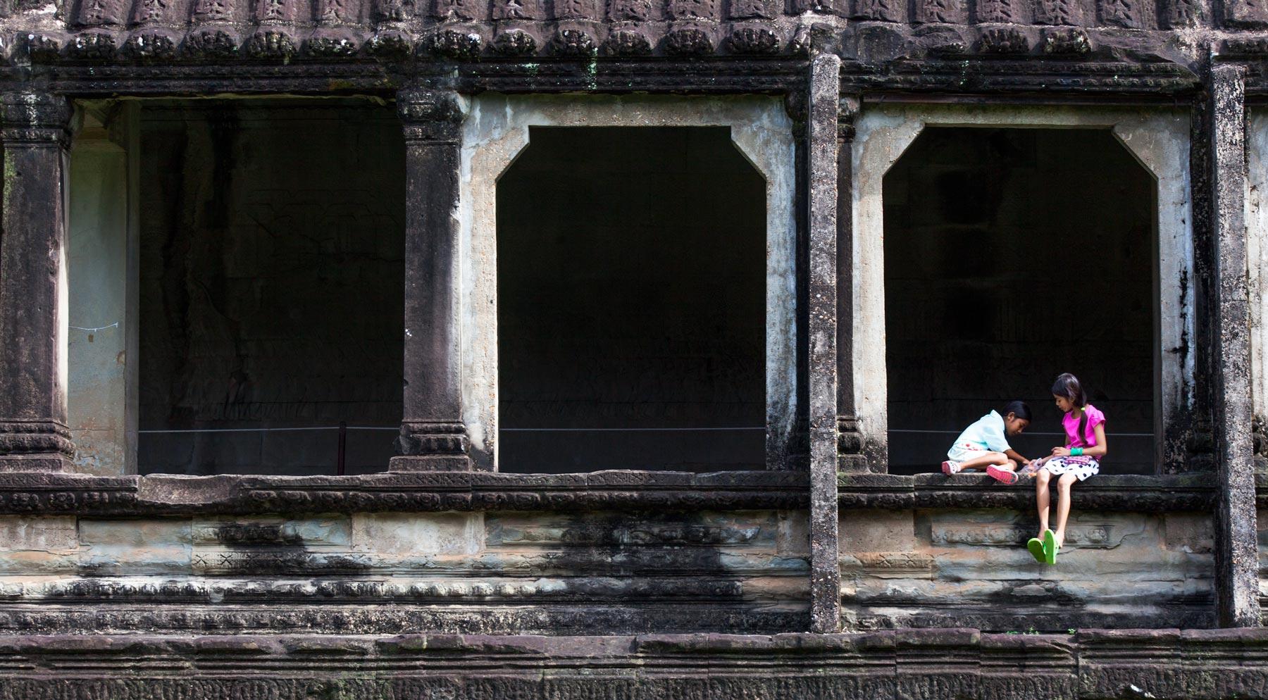 Angkor Wat Niños Jugando