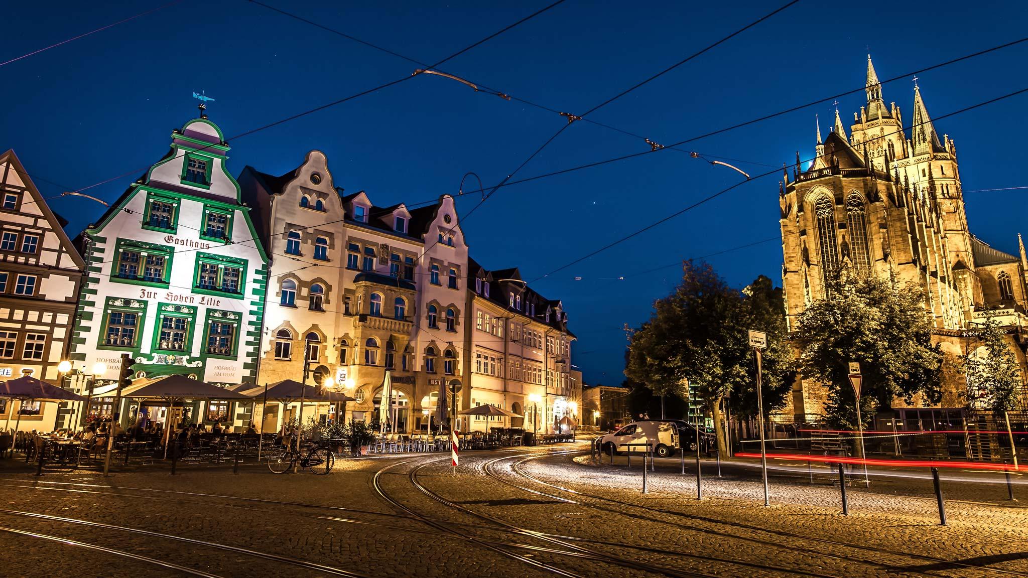 Noche en Erfurt Turingia
