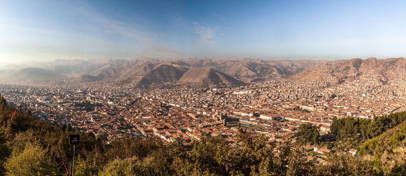 Ciudad de Cusco desde arriba