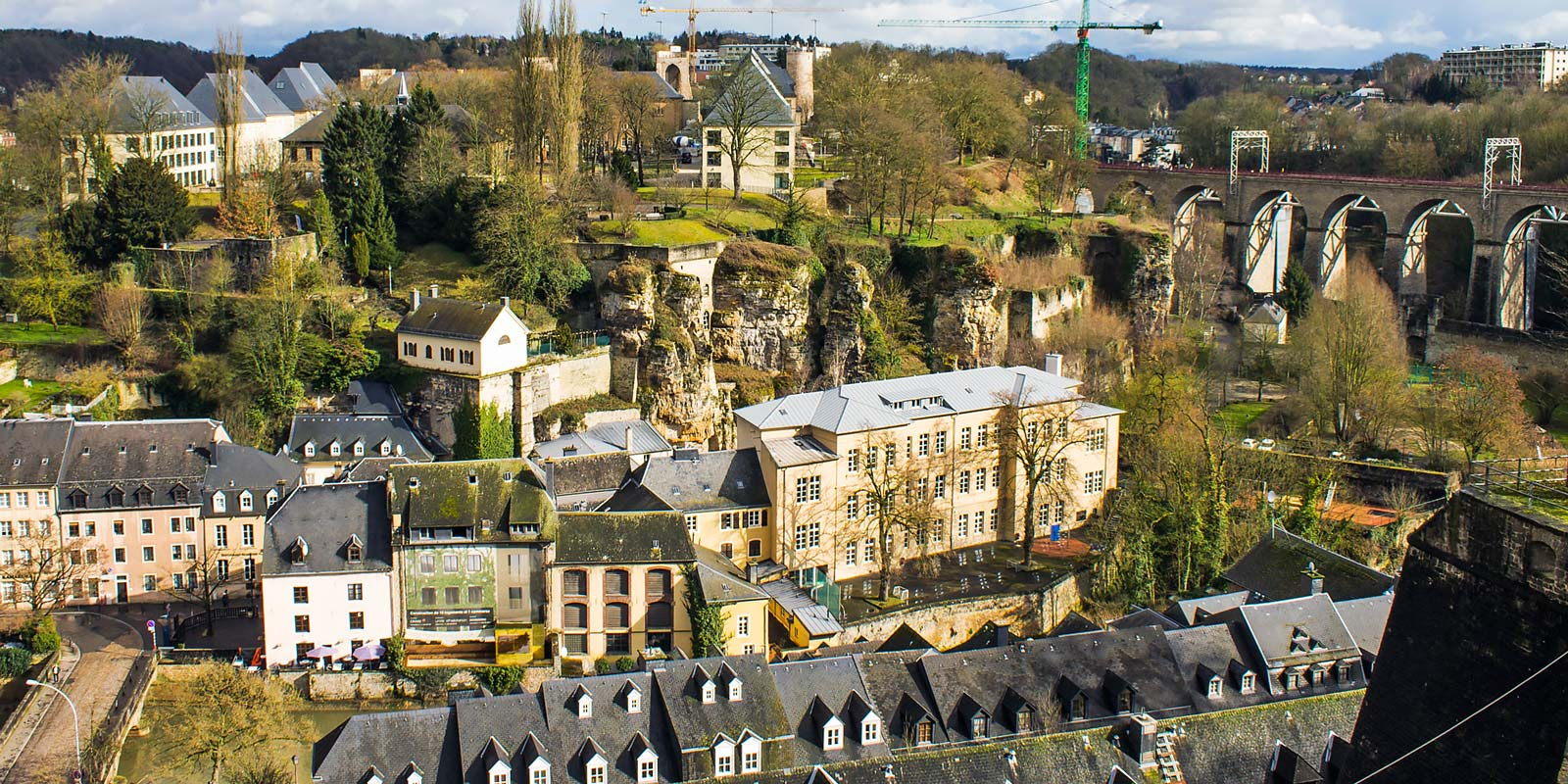 Vistas Aéreas de Luxemburgo