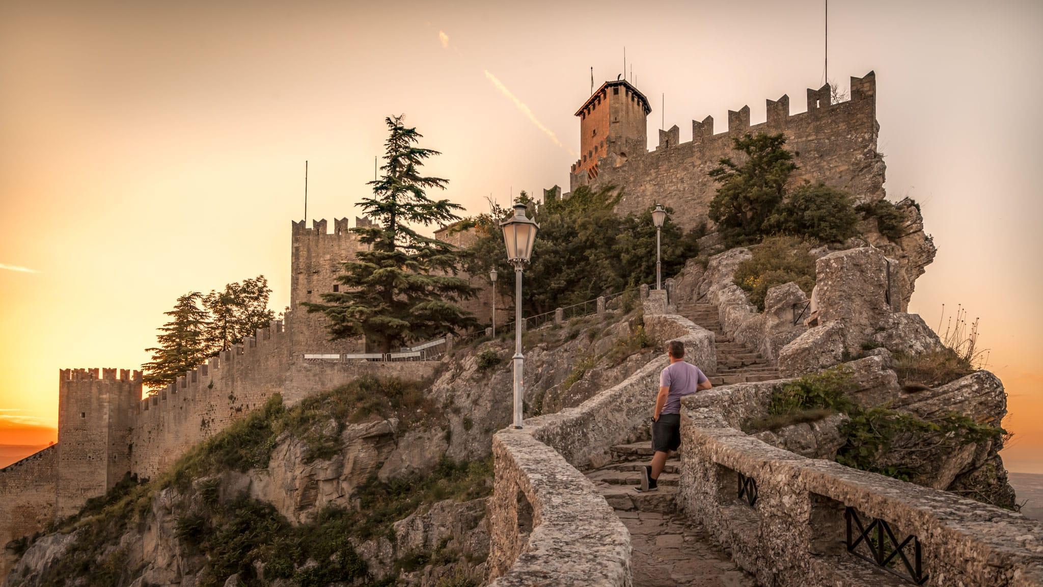 Puesta de sol en San Marino