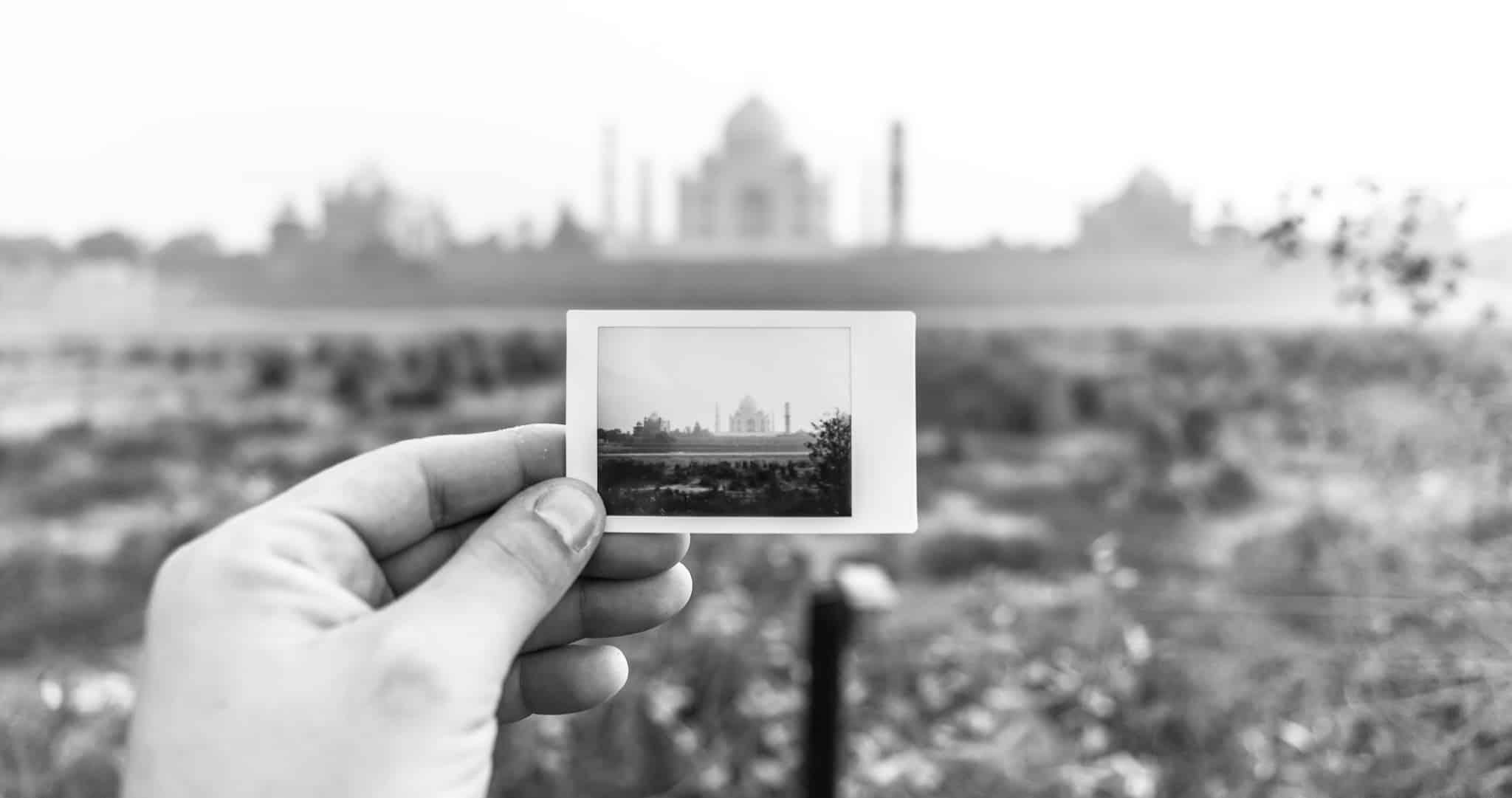 Taj Mahal Blanco y Negro