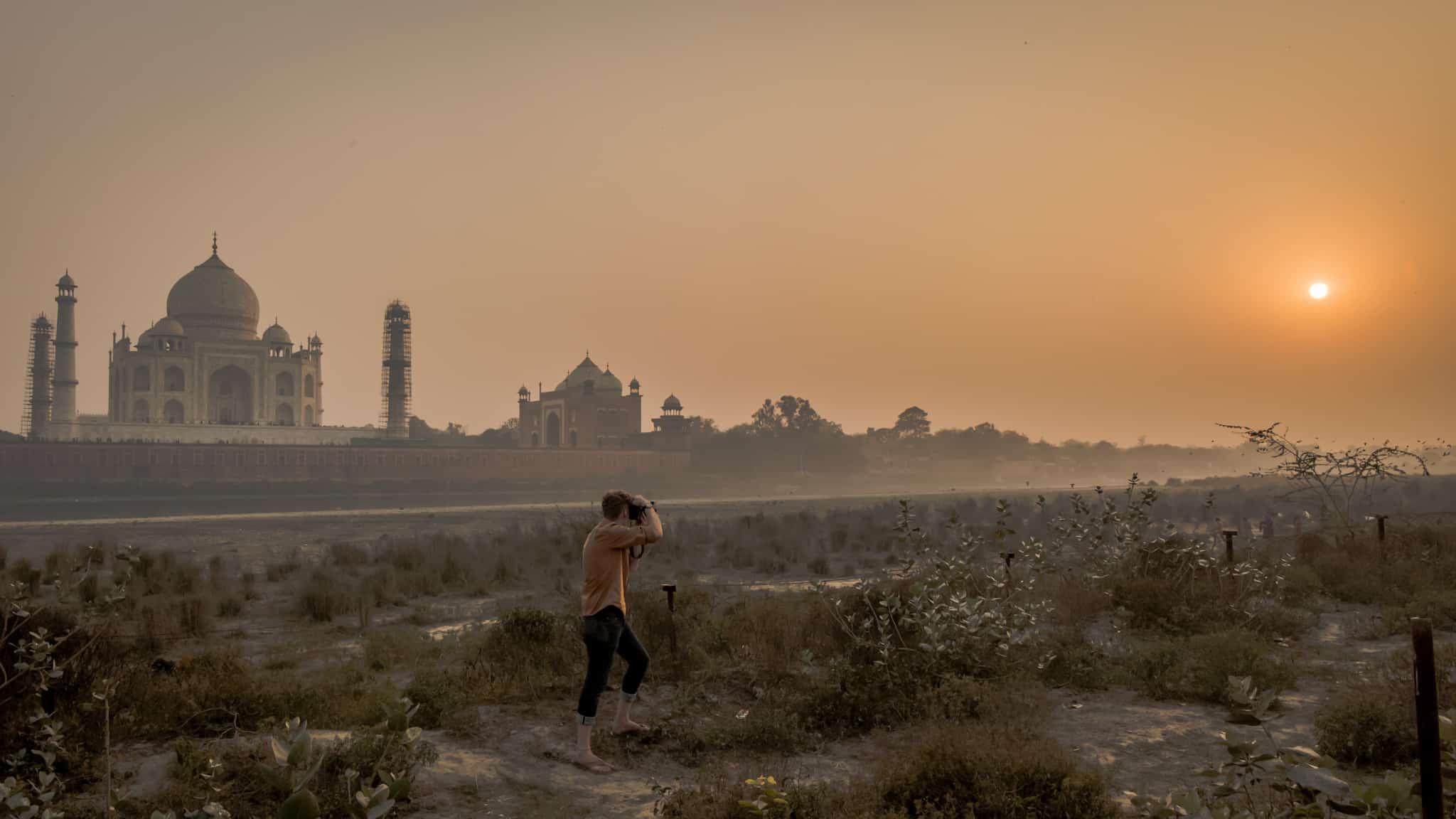 Puesta del Sol del Taj Mahal