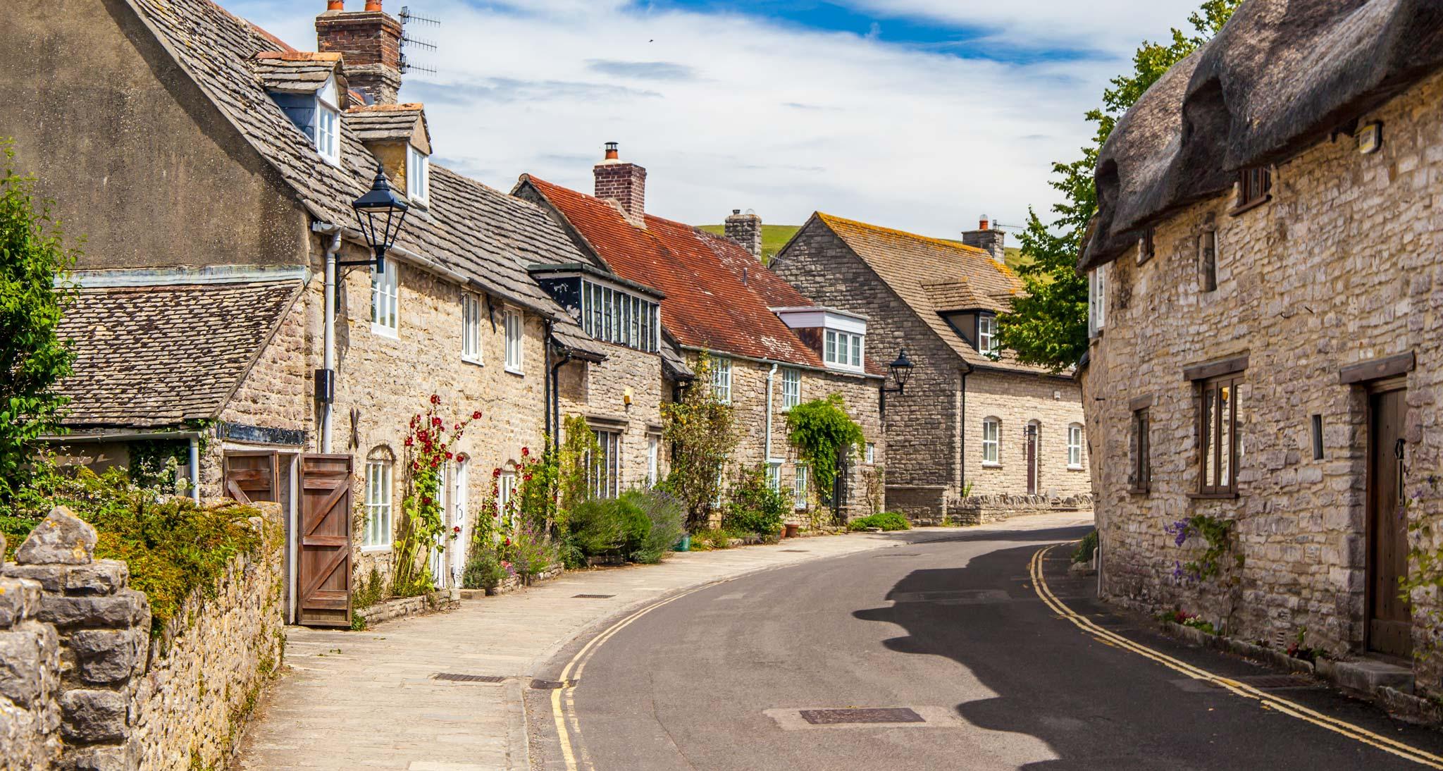 Calles pintorescas en Dorset