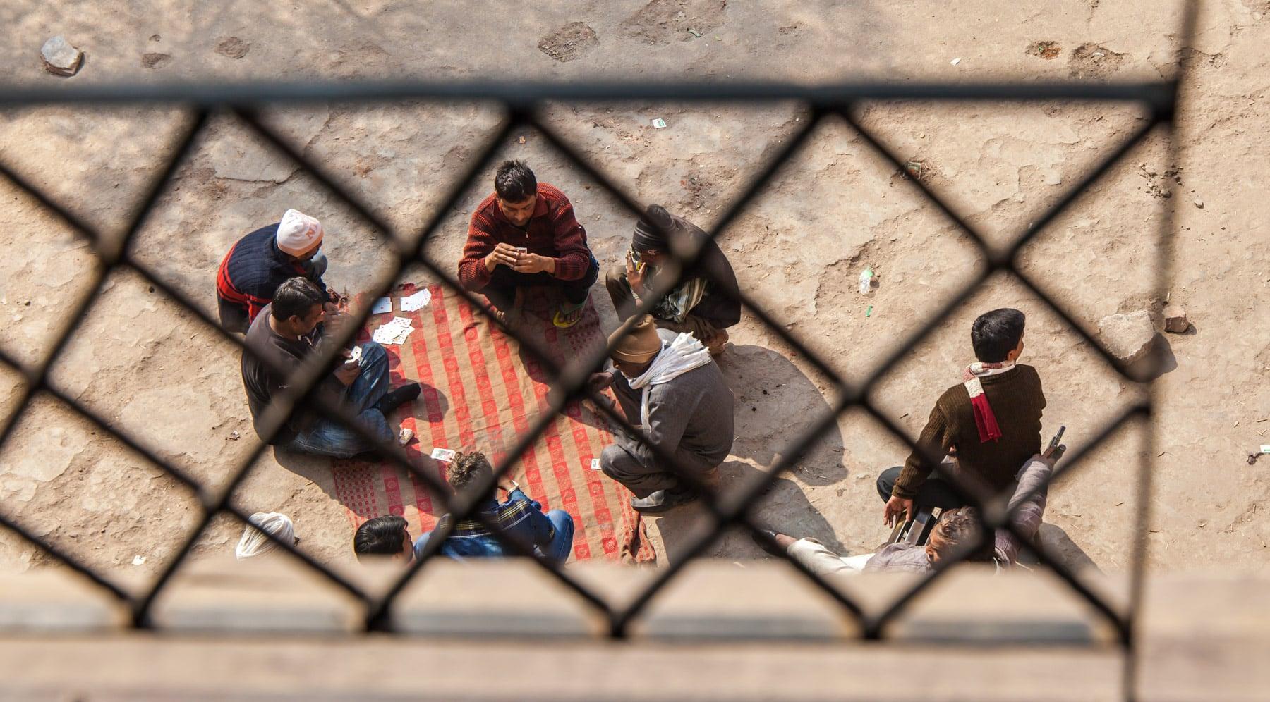 Barrios marginales de Delhi